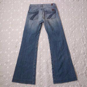 7 FAM 25 Dojo Flare Leg Jeans Light Wash Mankind
